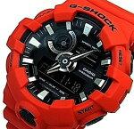 CASIO/G-SHOCK【カシオ/Gショック】アナデジモデルメンズ腕時計レッド/ブラック(海外モデル)GA-700-4A