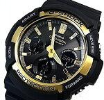 CASIO/G-SHOCK【カシオ/Gショック】ソーラー電波腕時計アナデジモデルブラック/ゴールド海外モデル【並行輸入品】GAW-100G-1A