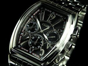 【レビューでおまけ】【無料ラッピング】【ベルト調整無料】エルジン ELGIN 腕時計 クロノグラ...