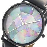 アリーデノヴォ ALLY DENOVO 腕時計 レディース 36mm AF5003-5 GAIA PEARL ネイビーシェル ブラック