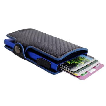 鈴堂 りんどう カードケース スマートウォレット メンズ FD08CB-BLUE CASAKEY ブラック ブルー