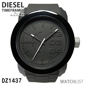 【ペア価格】【】ディーゼル腕時計dieselペアウォッチメンズレディースホワイトブラックラバーベルトdz1436dz1437