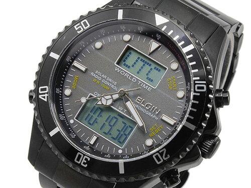 エルジン ELGIN 電波 ソーラー ワールドタイム 腕時計 FK1349B-BP