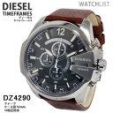 【送料無料】ディーゼル DIESEL クオーツ メンズ クロノ 腕時計 DZ4290 メンズ Mens 革ベルト ウォッチ 時計 うでどけい