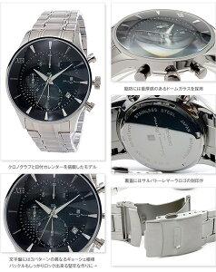 【送料無料】【】サルバトーレマーラXBメンズクロノ腕時計SMXB-001SS-SSBKブラック文字盤ステンレスベルト