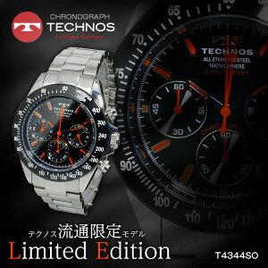 【送料無料】【】テクノスTECHNOSクオーツメンズクロノ腕時計T4344SO