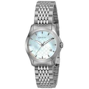 【送料無料】グッチGUCCIGタイムレスクオーツレディース腕時計YA126533ホワイトパール