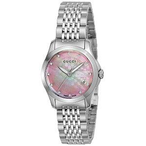 【送料無料】グッチGUCCIGタイムレスクオーツレディース腕時計YA126534ピンクパール