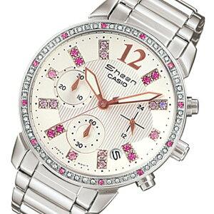 【送料無料】カシオCASIOシーンSHEENレディースクロノ腕時計SHN-5013D-7Aホワイト