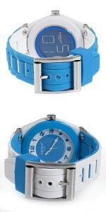 【送料無料】カラーツインズリバーシブルウォッチ腕時計KC-18ブルー/ホワイト