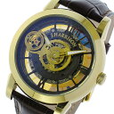 【送料無料】ジョンハリソン JOHN HARRISON 両面スケルトン 自動巻き メンズ 腕時計 JH-041GB ゴールド/ブラウン