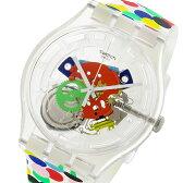 スウォッチ SWATCH エレクトリック・ライド SPOT THE DOT ユニセックス 腕時計 SUOZ213 スケルトン