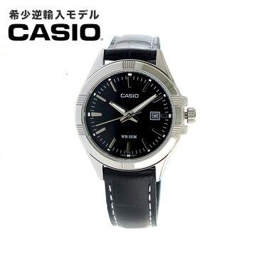 【希少逆輸入モデル】 カシオ CASIO クオーツ レディース 腕時計 LTP-1308L-1AVDF ブラック