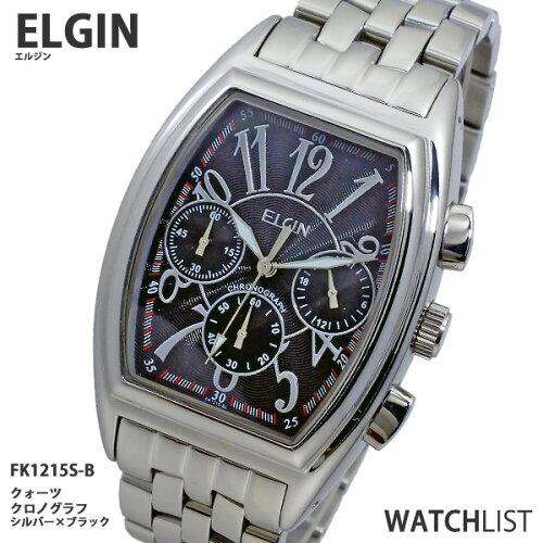 エルジン ELGIN クロノグラフ 腕時計 FK1215S-B 文字盤ブラック ウォッチ 時計 うでどけい