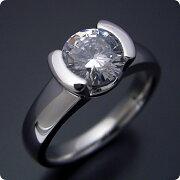 1カラット版:ごつしっかり伏せこみタイプの婚約指輪