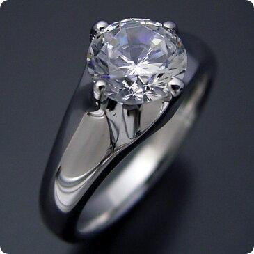 100万円 婚約指輪 1カラット エンゲージリング 1ctダイヤモンド プロポーズ用 ブライダルジュエリー プラチナ 1カラット版:雫の王冠をイメージした婚約指輪 Gカラー・VS2クラス・Goodカット 宝石鑑定書付き