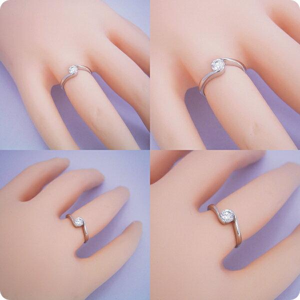 婚約指輪 0.5カラット エンゲージリング 一粒 ダイヤモンド プロポーズ用 ブライダルジュエリー プラチナ 抱き合わせ伏せこみタイプの婚約指輪 Eカラー・VS1・Excellentカット 宝石鑑定書付き