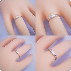 甲丸リングにダイヤモンドを埋め込んだ婚約指輪