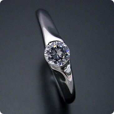 【婚約指輪】エンゲージリング【0.3カラット】一粒【0.3ct】ダイヤモンド【ブライダルジュエリー】プラチナ【結婚指輪】マリッジリング【絶妙なラインを描く婚約指輪】標準仕様グレード【宝石鑑別書付き】