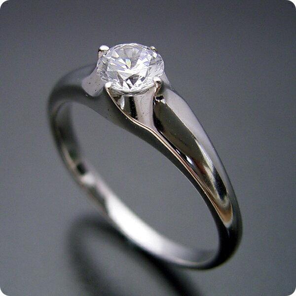 【婚約指輪】エンゲージリング【0.3カラット】一粒【0.3ct】ダイヤモンド【ブライダルジュエリー】プラチナ【結婚指輪】マリッジリング【雫の王冠をイメージした婚約指輪】Fカラー・VS1クラス・Goodカット【宝石鑑定書付き】