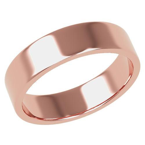 結婚指輪 マリッジリング 平打ちリング 5ミリ ペアリング K18ゴールド プロポーズ【平打ちリング・5mm幅・K18ピンクゴールド】:極(きわみ)宝石職人直売所