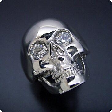 【婚約指輪】スカルリング【ダイヤモンド】エンゲージリング【プラチナ】ドクロ【ブライダルジュエリー】マリッジリング【結婚指輪】スカルをモチーフとした最高傑作の婚約指輪【宝石鑑別書付き】
