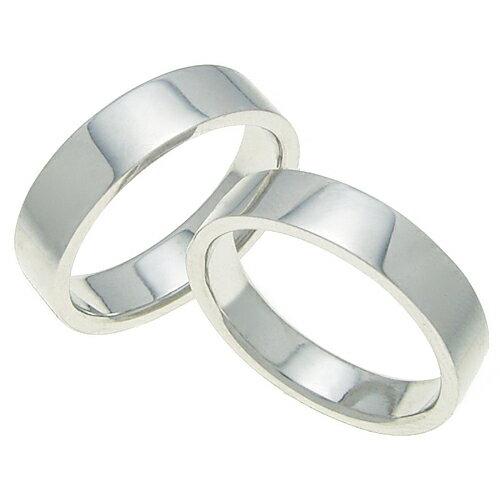 ペアリング 結婚指輪 マリッジリング 平打ちリング 5ミリ プラチナ900 プロポーズ【ペアリング・平打ちリング・5mm幅・プラチナ】