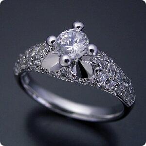 [약혼 반지] 약혼 반지 [불가리] 싱글 그레인 [0.3 캐럿] 다이아몬드 [신부 보석] 백금 [결혼 반지] 결혼 반지 [부드러운 인상을 가진 귀여운 약혼 반지] 표준 사양 등급 [보석 식별 포함]