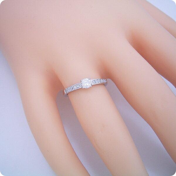 【婚約指輪】エンゲージリング【0.3ct】一粒【0.3カラット】ダイヤモンド【ブライダルジュエリー】プラチナ【結婚指輪】マリッジリング【豪華で可愛い婚約指輪】標準仕様グレード【宝石鑑別書付き】