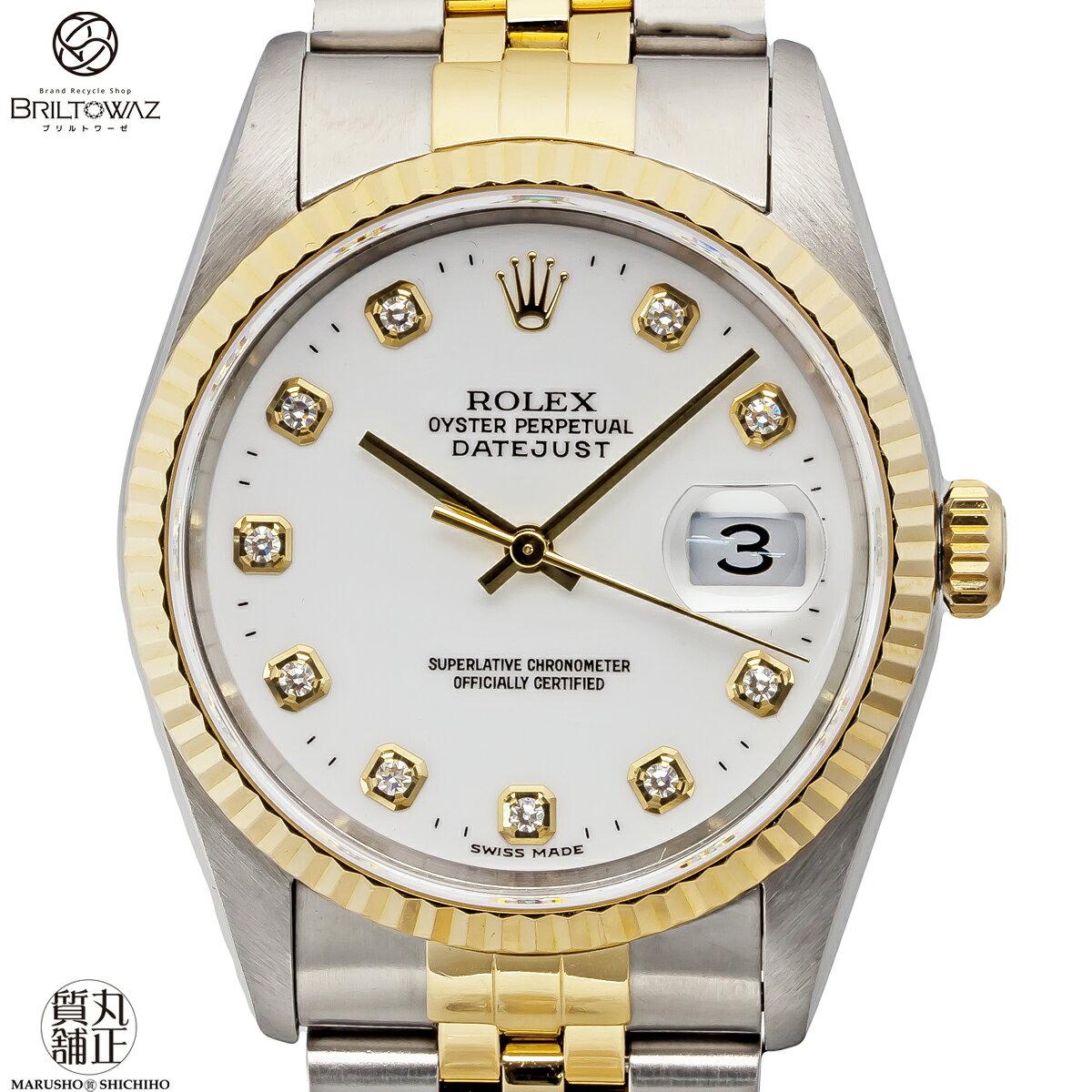腕時計, メンズ腕時計 ROLEX Ref16233G U SSYG 10 DATEJUST USED M208256