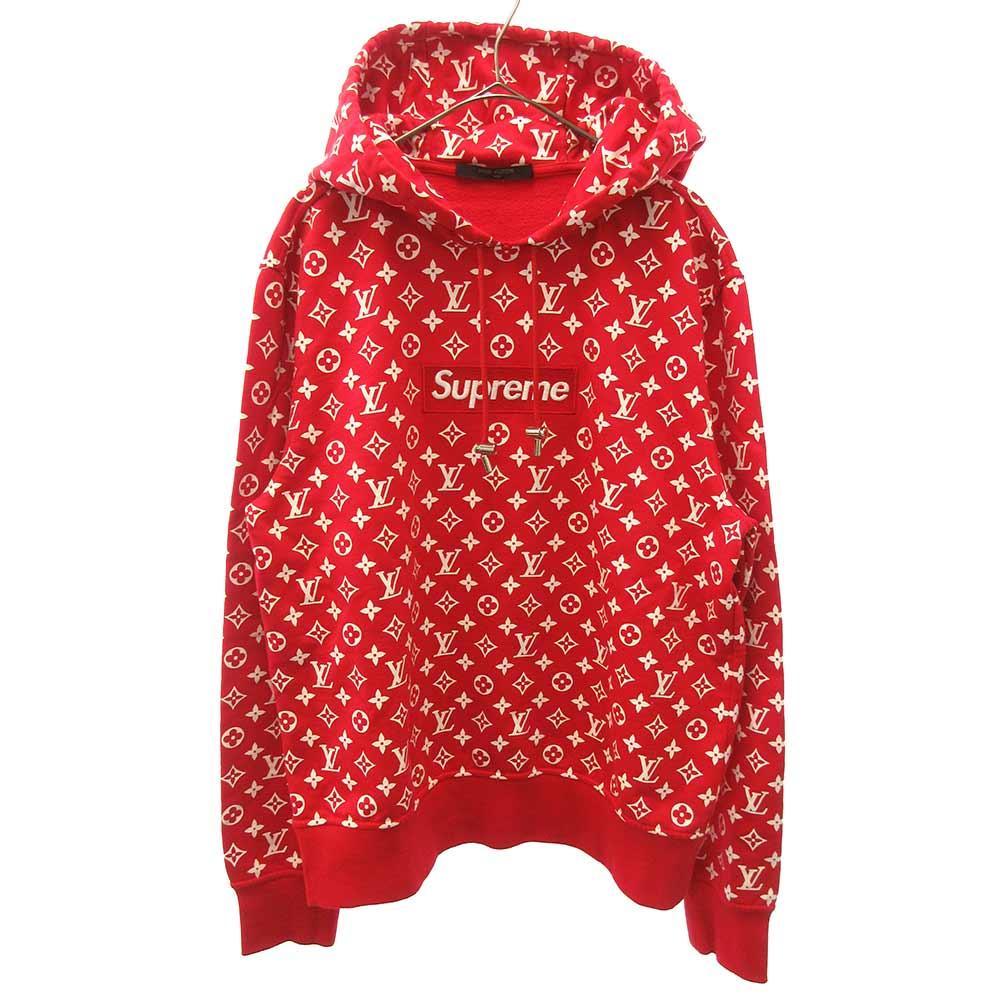 トップス, パーカー SUPREME()LOUIS VUITTON 17AW LV Box Logo Hooded Sweatshirt A
