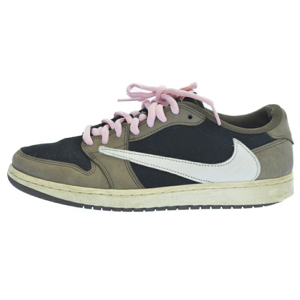 メンズ靴, スニーカー NIKE()TRAVIS SCOTT AIR JORDAN 1 LOW OG SP-T CQ4277-001 1 US10 B