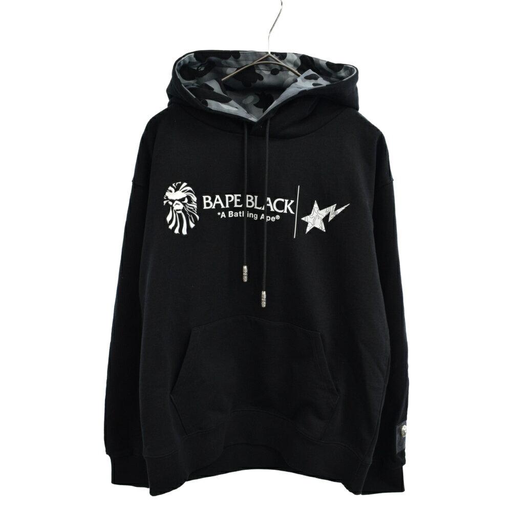 メンズファッション, その他 A BATHING APE()BAPE BLACK PULLOVER HOODIE 021 N