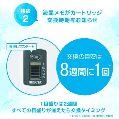 [数量限定]公式浄水器のブリタポット型浄水器リクエリ増量パックマクストラプラスカートリッジ2個付浄水部容量1.1L(全容量2.2L) ブリタカートリッジ浄水ポット浄水器マクストラ日本仕様ポットマクストラプラスbritamaxtraプラスピッチャー冷水筒