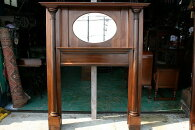 アンティークイギリスアンティークマントルピースミラー暖炉1850年頃英国製p94