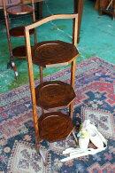 イギリスアンティーク家具折りたたみ/ケーキスタンドアフタヌーンティー/スタンド1930年頃英国製n68-2