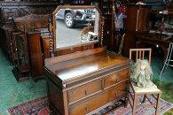 イギリスアンティーク家具ドレッサードレッシングチェスト鏡台ミラー1920年代英国製h149-2