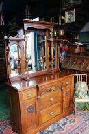 イギリスアンティーク家具サイドボードミラーバック/サイドボードディスプレイ/サイドボードミラー英国家具1900年頃英国製h17