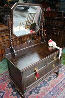 イギリスアンティーク家具ドレッシングチェストドレッサービクトリアン鏡台英国家具ミラー1890年頃英国製c174