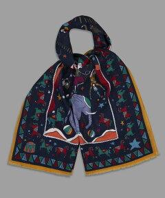Drake's Circus Print Wool Scarf DKS01WOO020802
