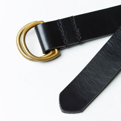 Bridle Leather D-Ring Belt 06-5901: New Black
