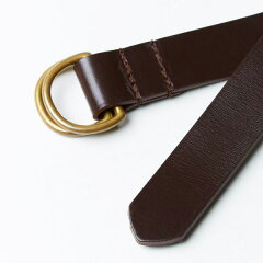 Bridle Leather D-Ring Belt 06-5901: Cigar