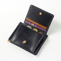 【GLENROYALグレンロイヤル】マネークリップコインケース付財布(メンズレディースレザー本革コンパクト二つ折りミニ財布)