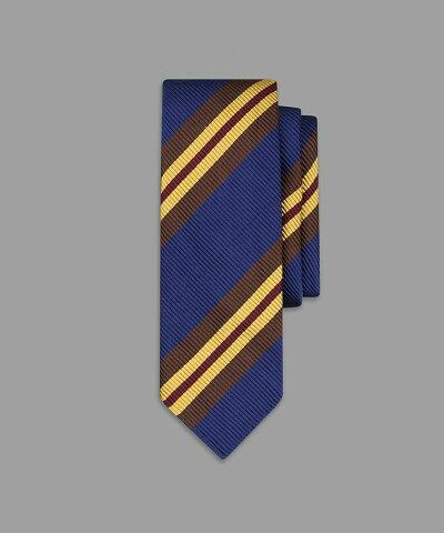 Drake's Sandwich Stripe Repp Silk Tie DKSCRE80R20703