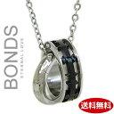 ステンレス ネックレス BONDS ボンズ ダブルリングネックレス HOLY メンズ BN-2520M シルバー×ブラック 【楽ギフ_包装】【楽ギフ_メッセ入力】【RCP】