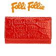フォリフォリ Folli Follie キーケース レディース ロゴマニア WA0L034SR/RED レッド 【楽ギフ_包装】【楽ギフ_メッセ入力】【RCP】