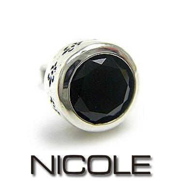 NICOLE ニコル ピアス メンズ 天然石オニキス×シルバー NC-LE51 【楽ギフ_...