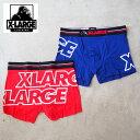 X-LARGE エクストララージ ボクサーパンツ メンズ はみ出しロゴ ボクサーパンツ 14607900 ボクサー パンツ 男性 紳士 アンダーウェア プレゼント ギフト 柄 ロゴ ブランド M L XL ゴリラ おしゃれ かっこいい かわいい