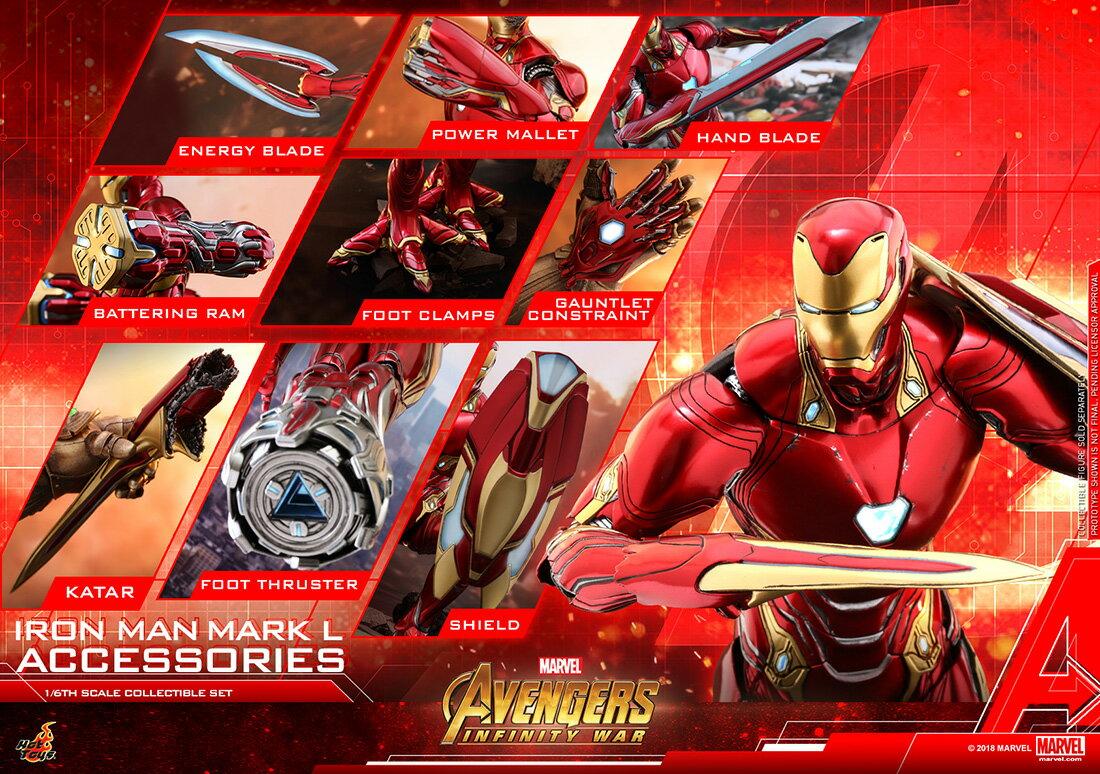 コレクション, フィギュア Hottoys ACS004 16 50 Avengers: Infinity War - Iron Man Mark 50 Expansion Parts Set