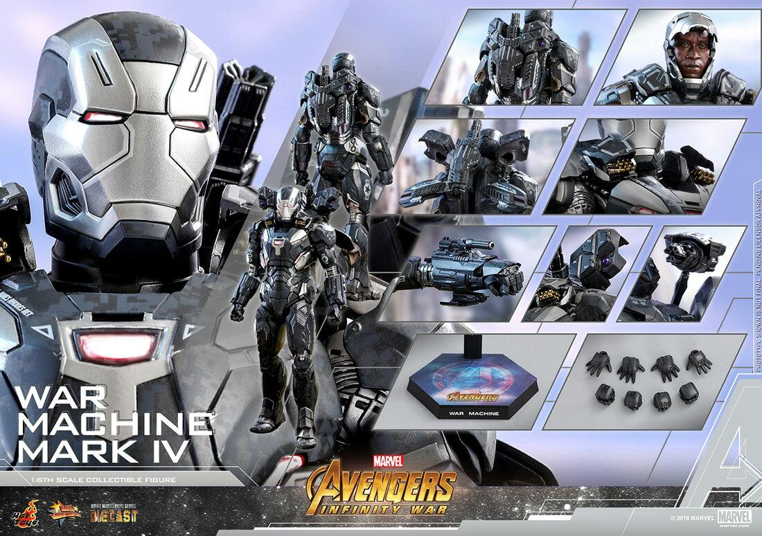 コレクション, フィギュア Hottoys MMS499D26 4 16Avengers: Infinity War - War Machine Mark 4